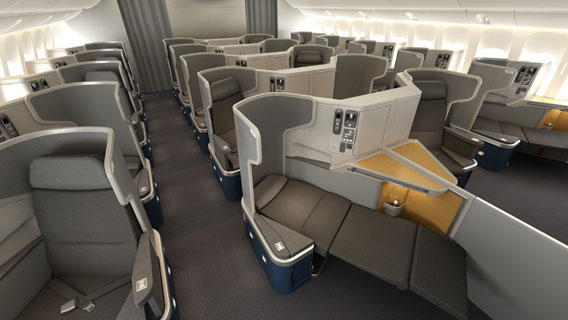 business class on  American Airlines