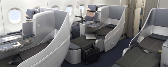 business class on  British Airways