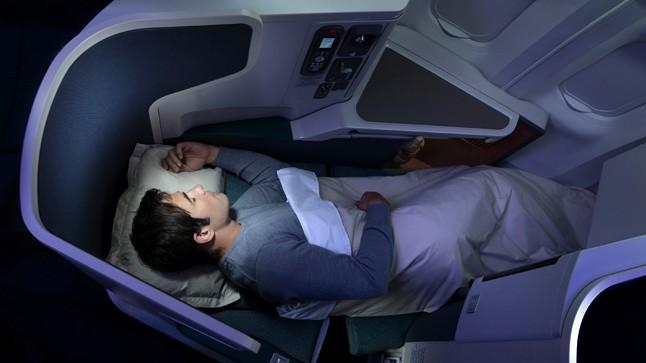 business class on  Cathay Pacific
