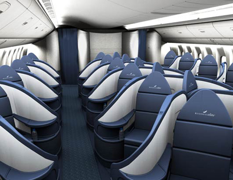 business class flights on  Delta