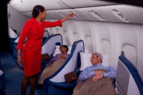 business class on  Delta