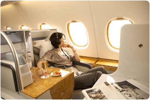 business class on Emirates Airways A380