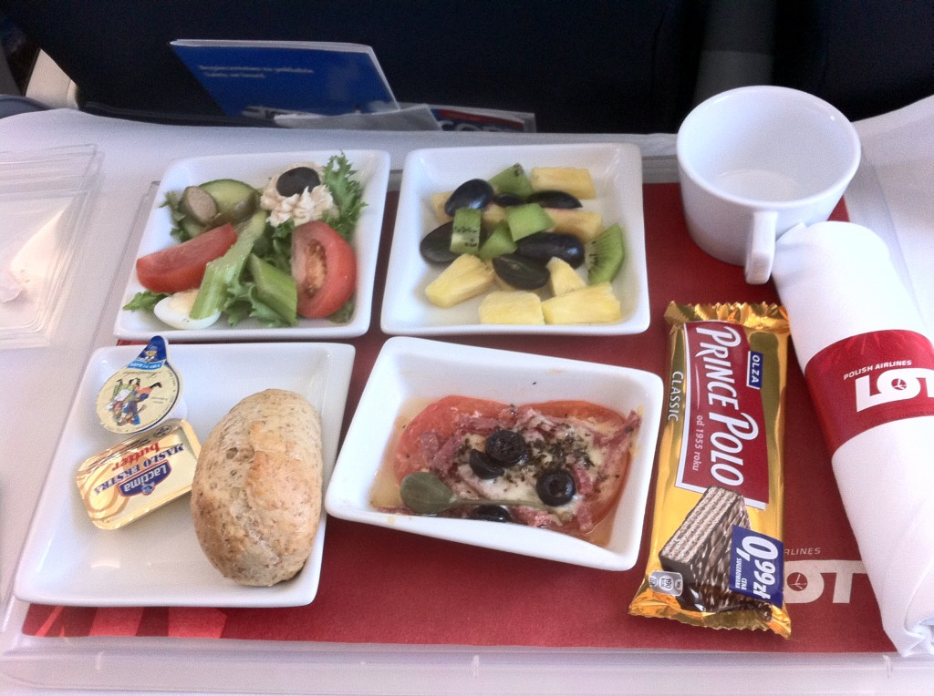 business class flights on  Lot Polish Airlines Cusine