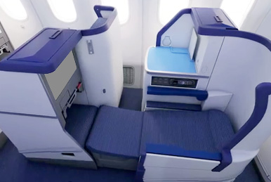 business class on All Nippon Airways