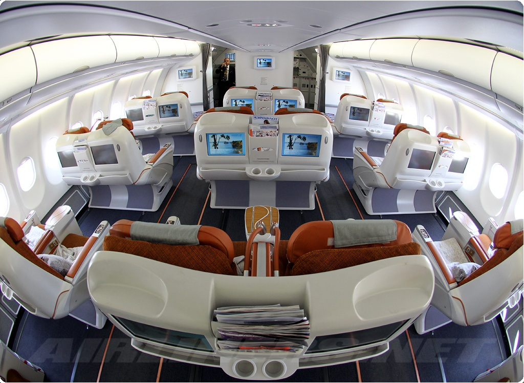 business class seat on  Aeroflot
