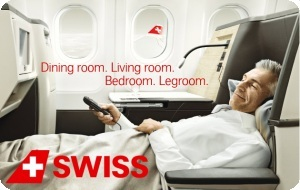 business class on Swiss Airways